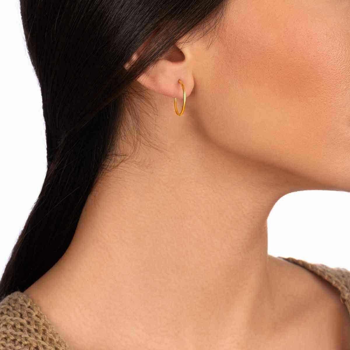 گوشواره طلا تک لنگه ای حلقه