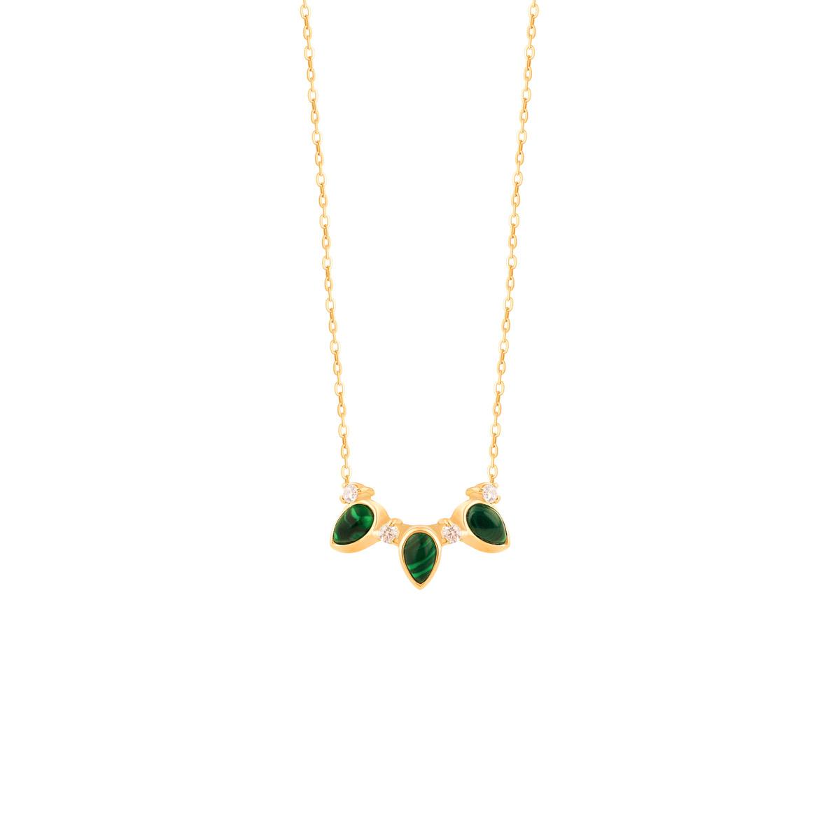 گردنبند طلا مینِلاوا سبز