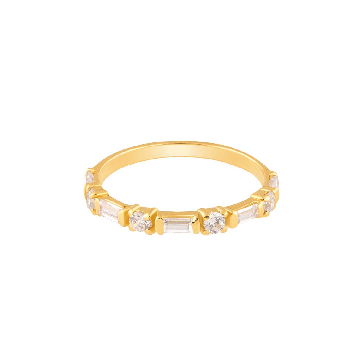 انگشتر طلا حلقه لونا و نگین باگت پرسته