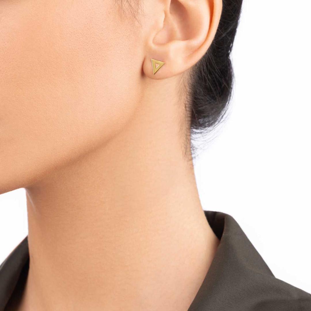 گوشواره طلا مثلث توخالی