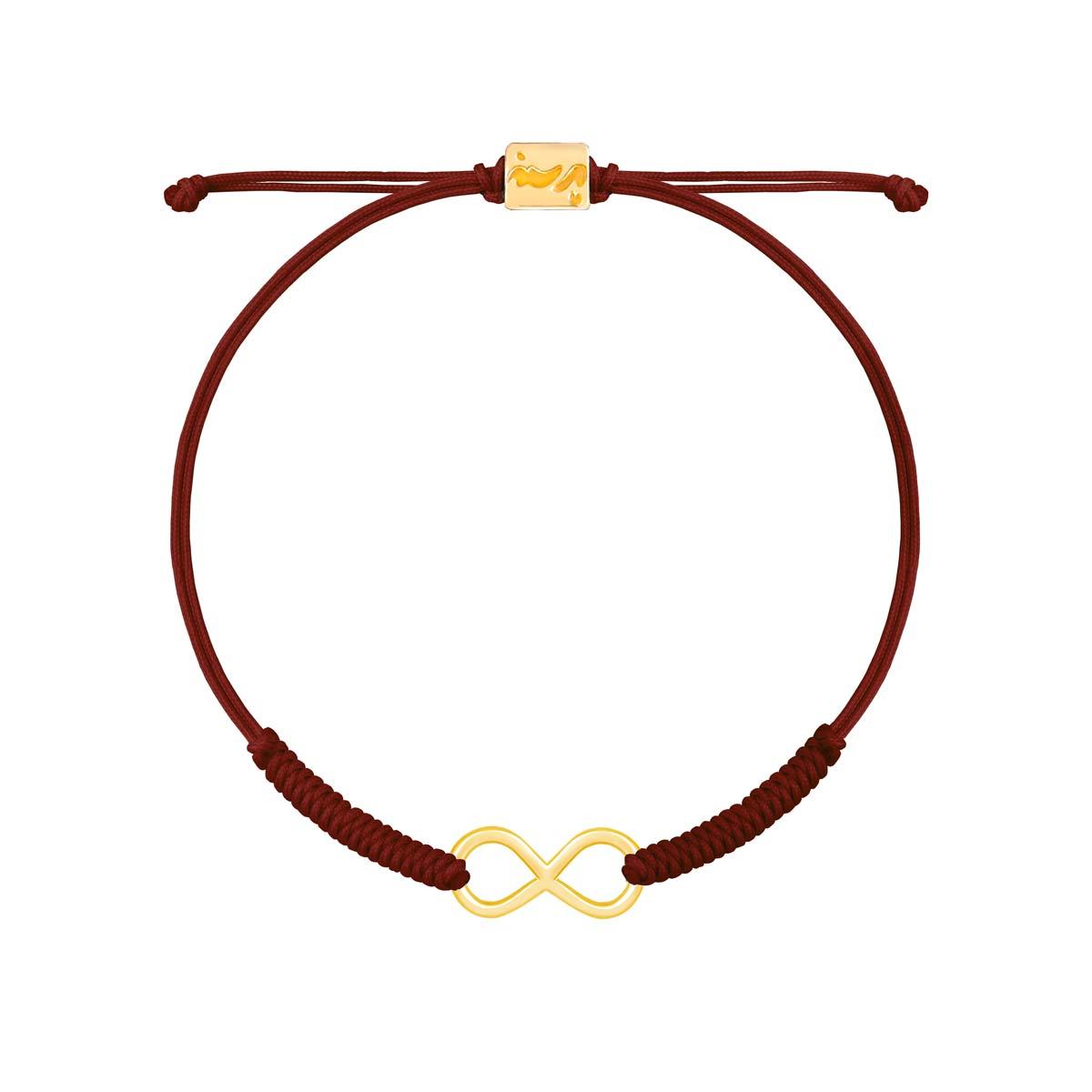دستبند طلا بافت زرشکی بی نهایت