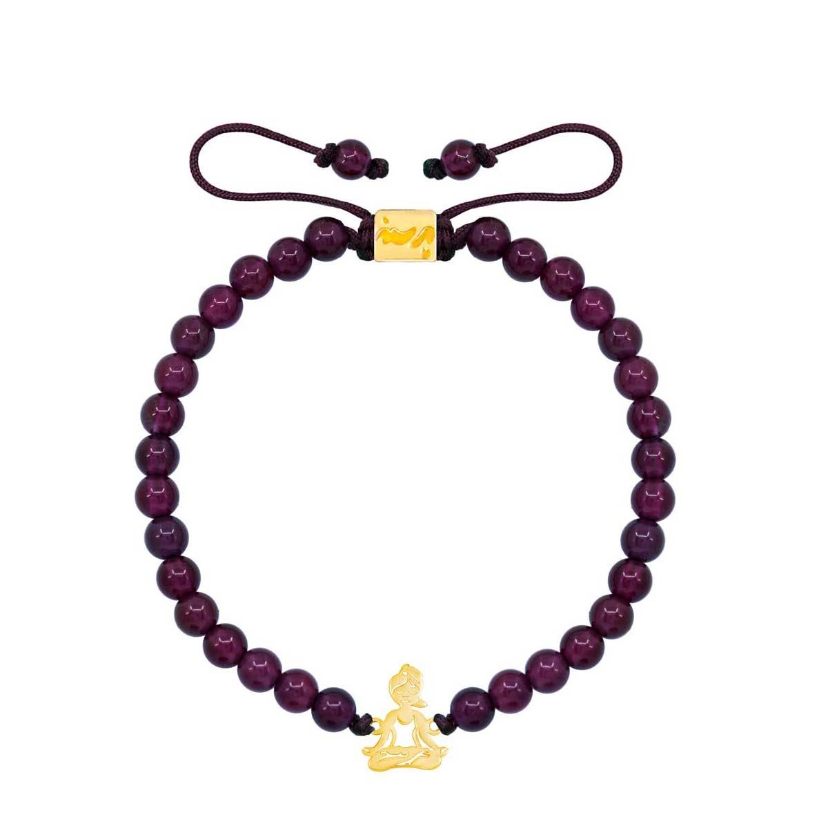 دستبند طلا سنگی یوگا