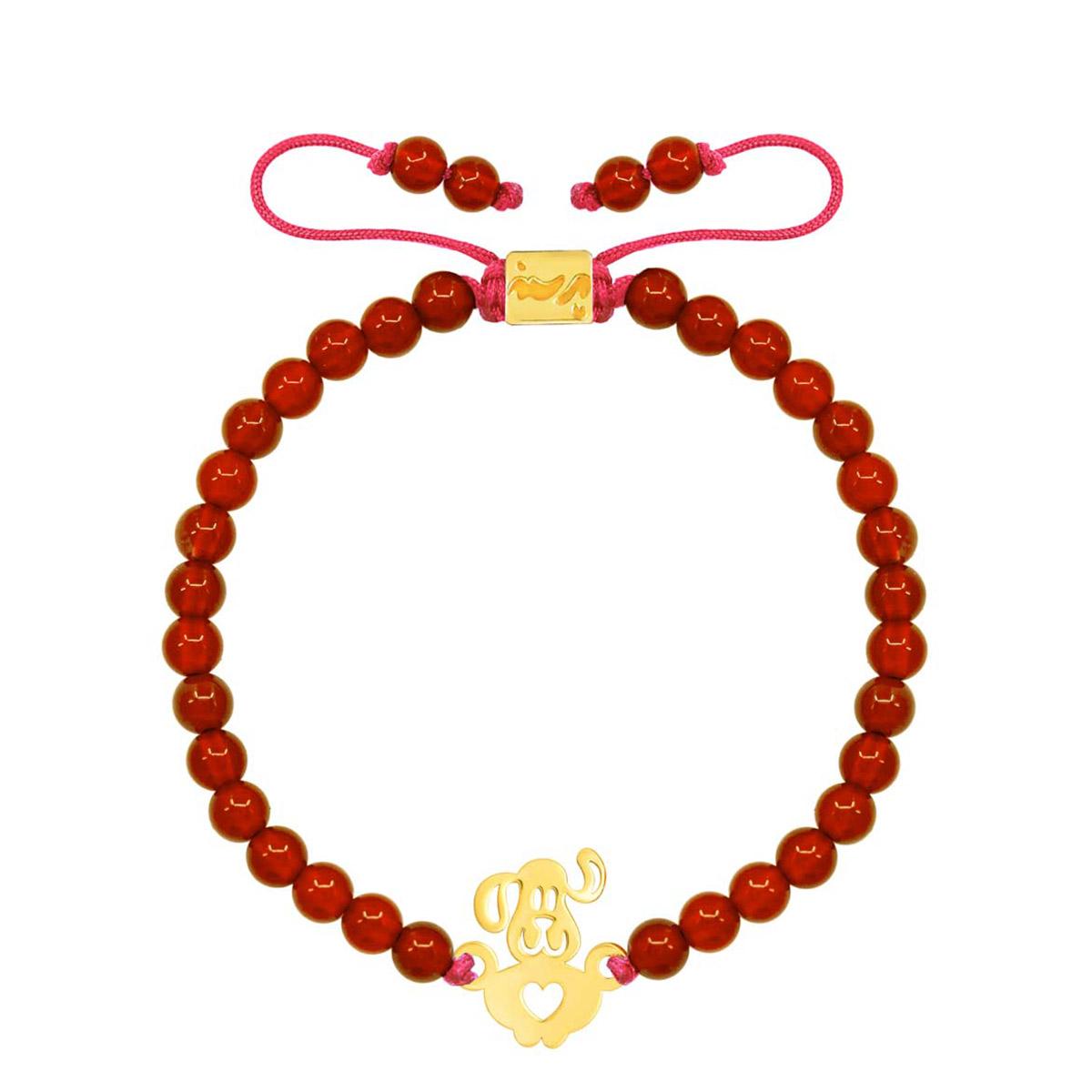 دستبند طلا بچه گانه سنگی PUPPY (پاپی)