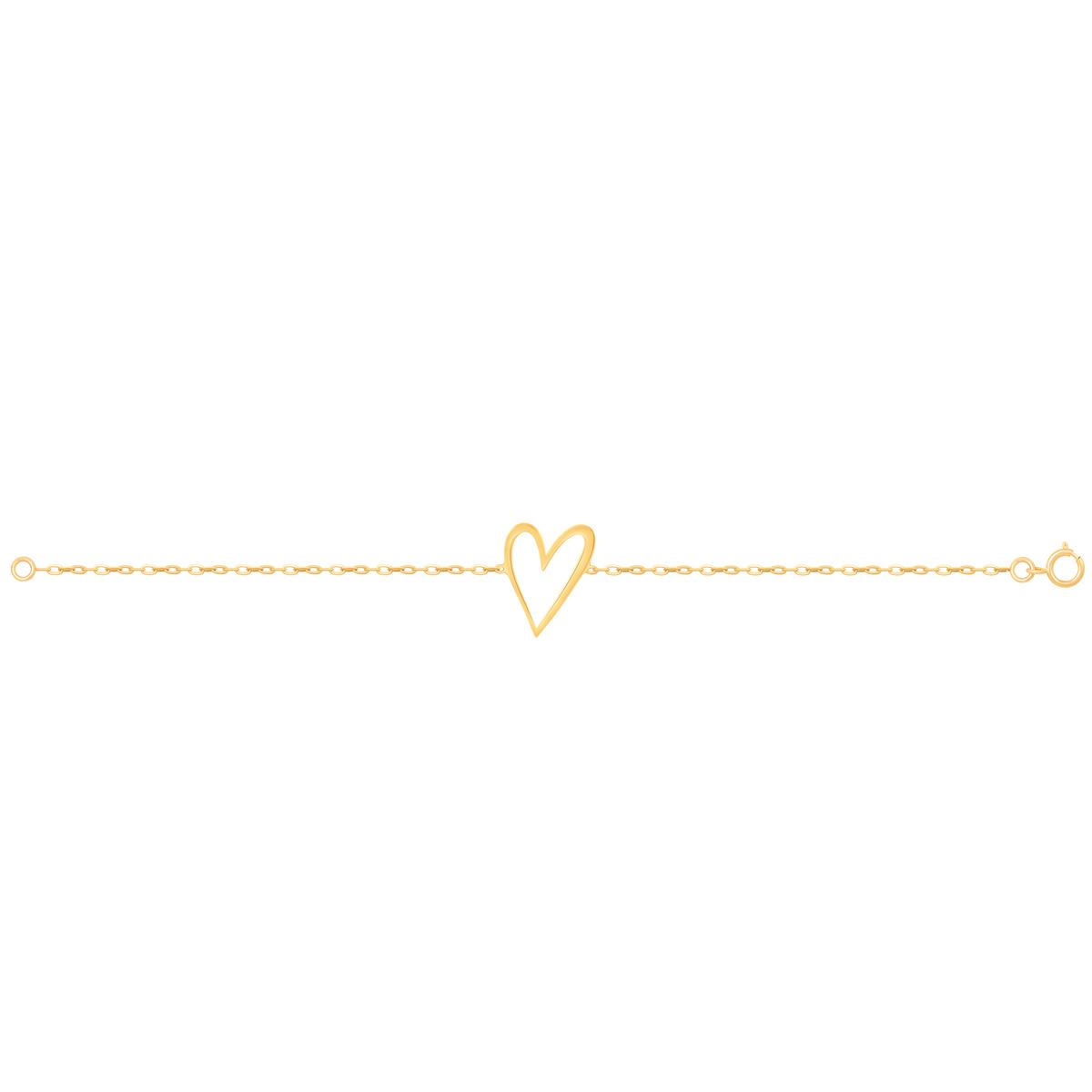 دستبند طلا قلب توخالی