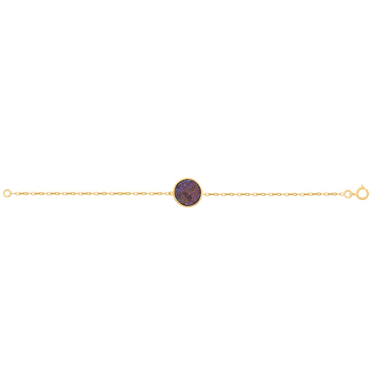 دستبند طلا کوارتز هفت رنگ کوچک