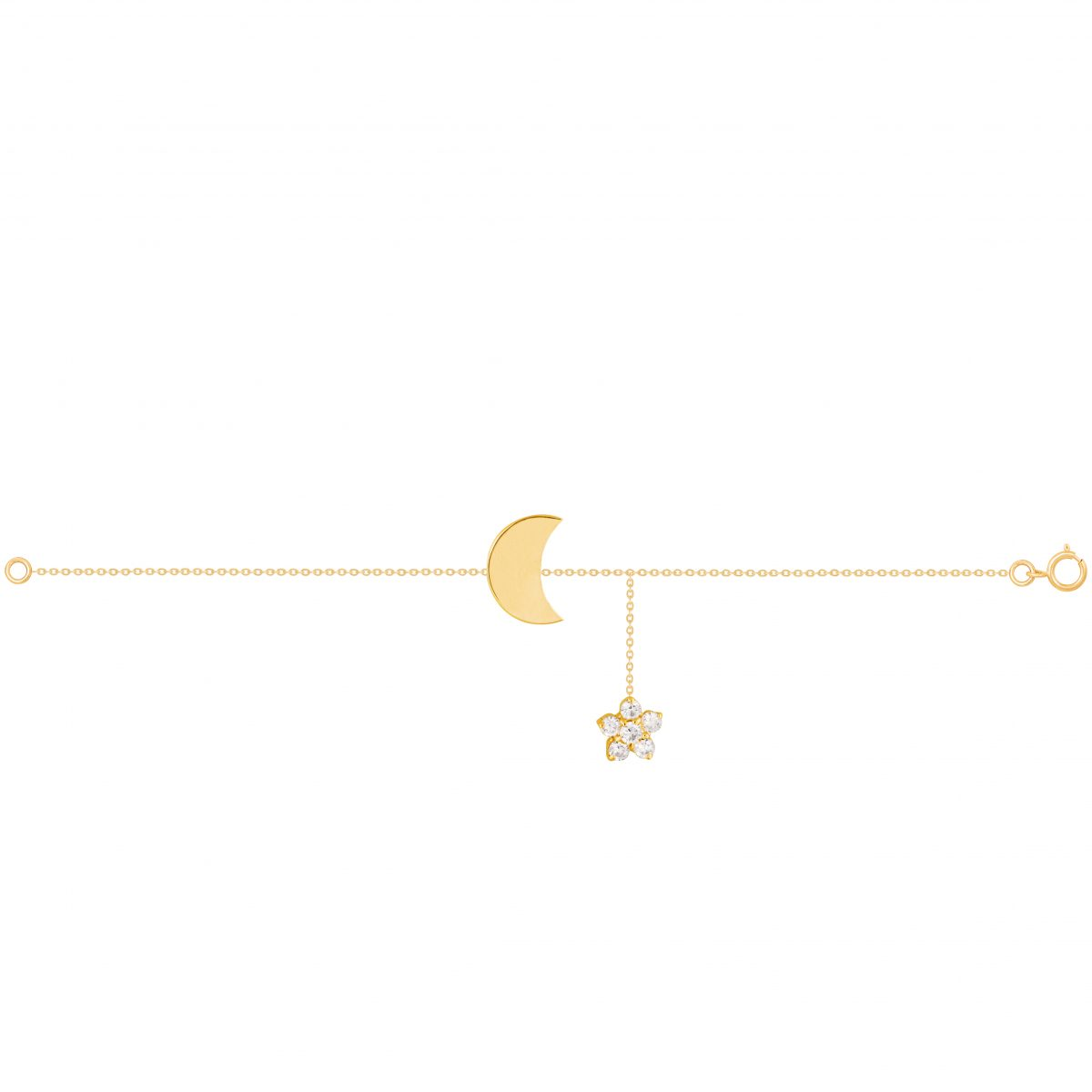 دستبند طلا لونا و گل
