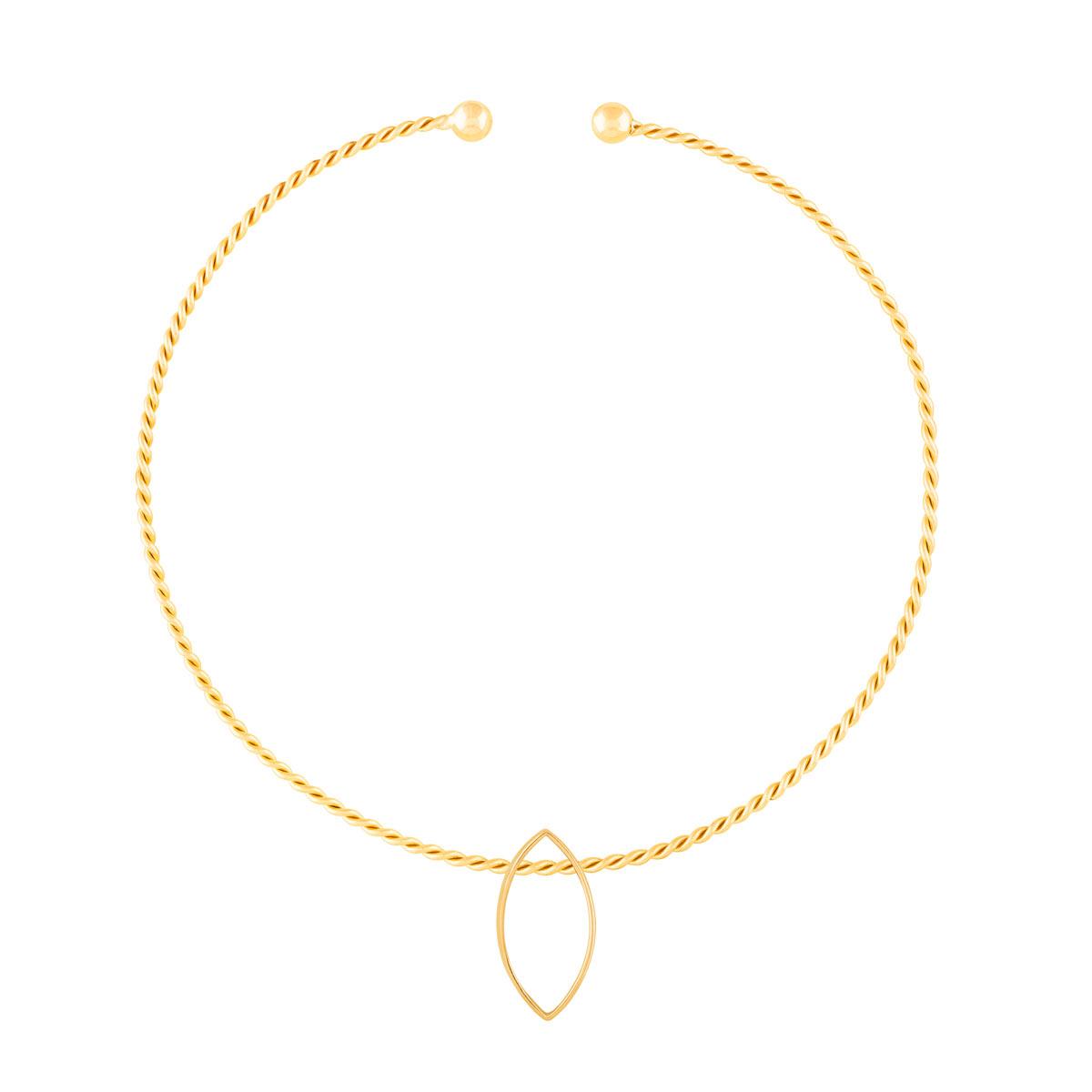 گردنبند طلا چوکر پیچ و لوزی ایشتار