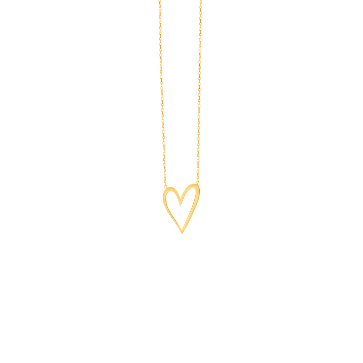 گردنبند طلا قلب توخالی