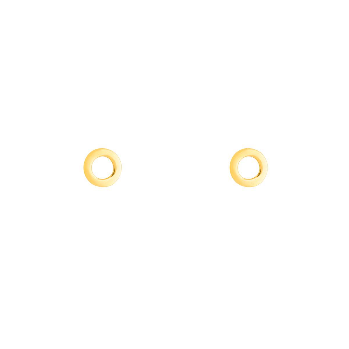 گوشواره طلا دایره توخالی