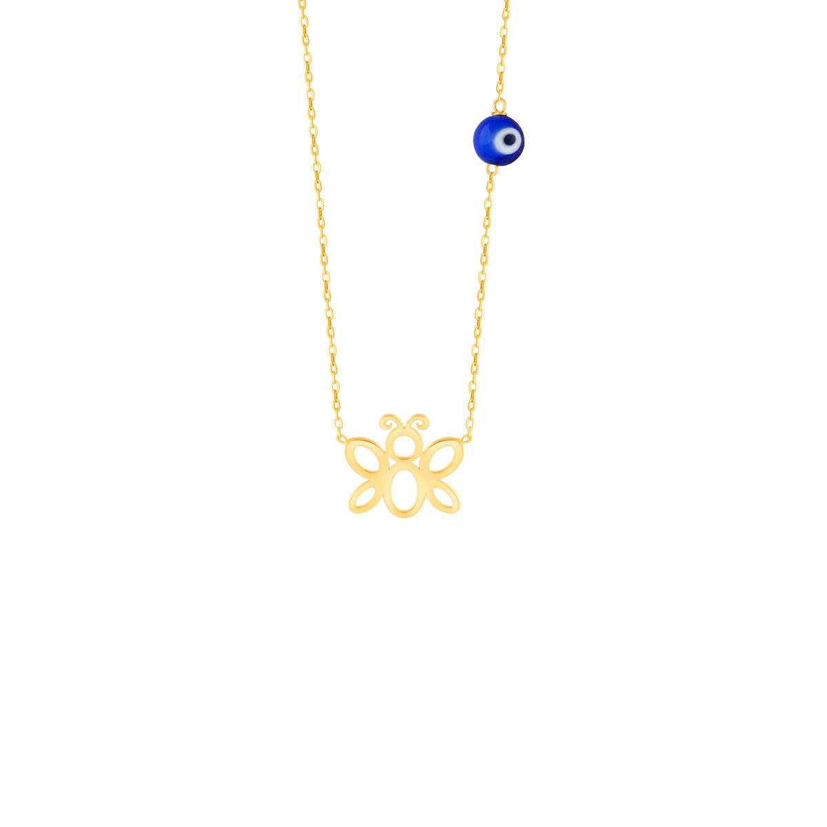 گردنبند طلا بچه گانه پروانه