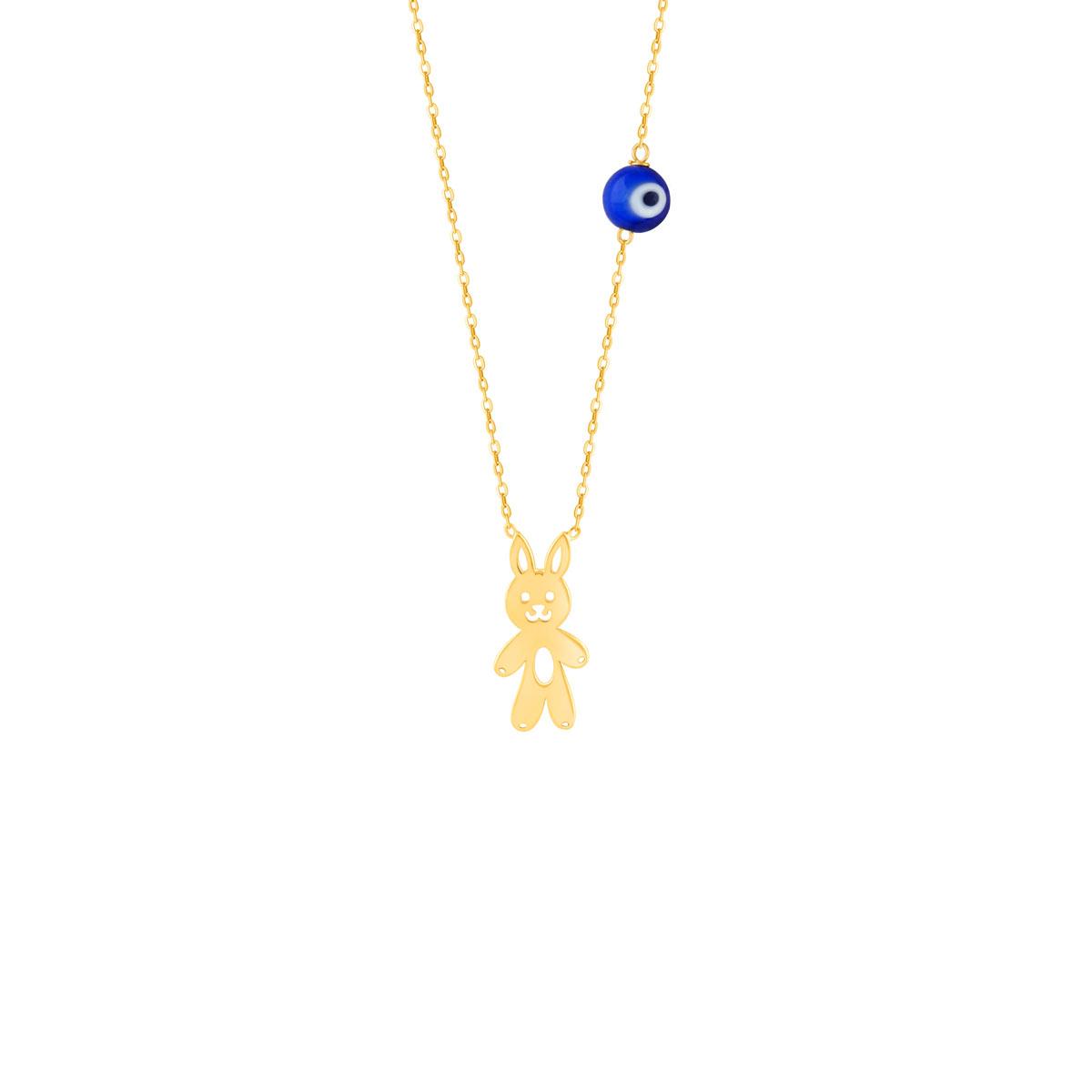 گردنبند طلا بچه گانه خرگوش