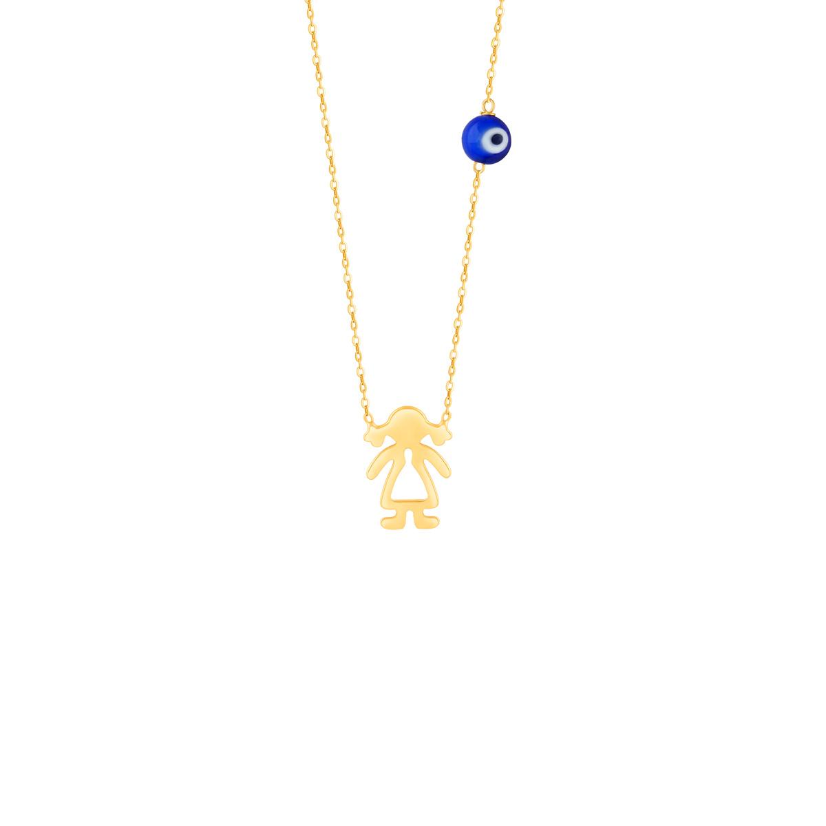 گردنبند طلا بچه گانه دخترک
