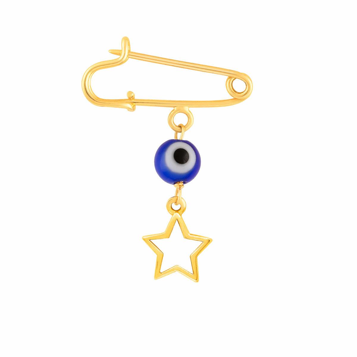 سنجاق سینه طلا بچه گانه ستاره توخالی