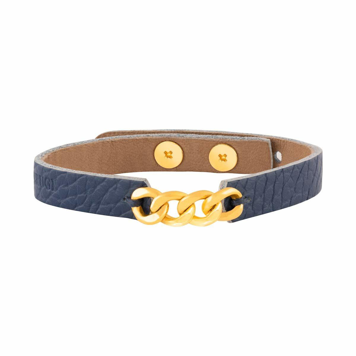 دستبند طلا چرمی چهار حلقه کارتیه