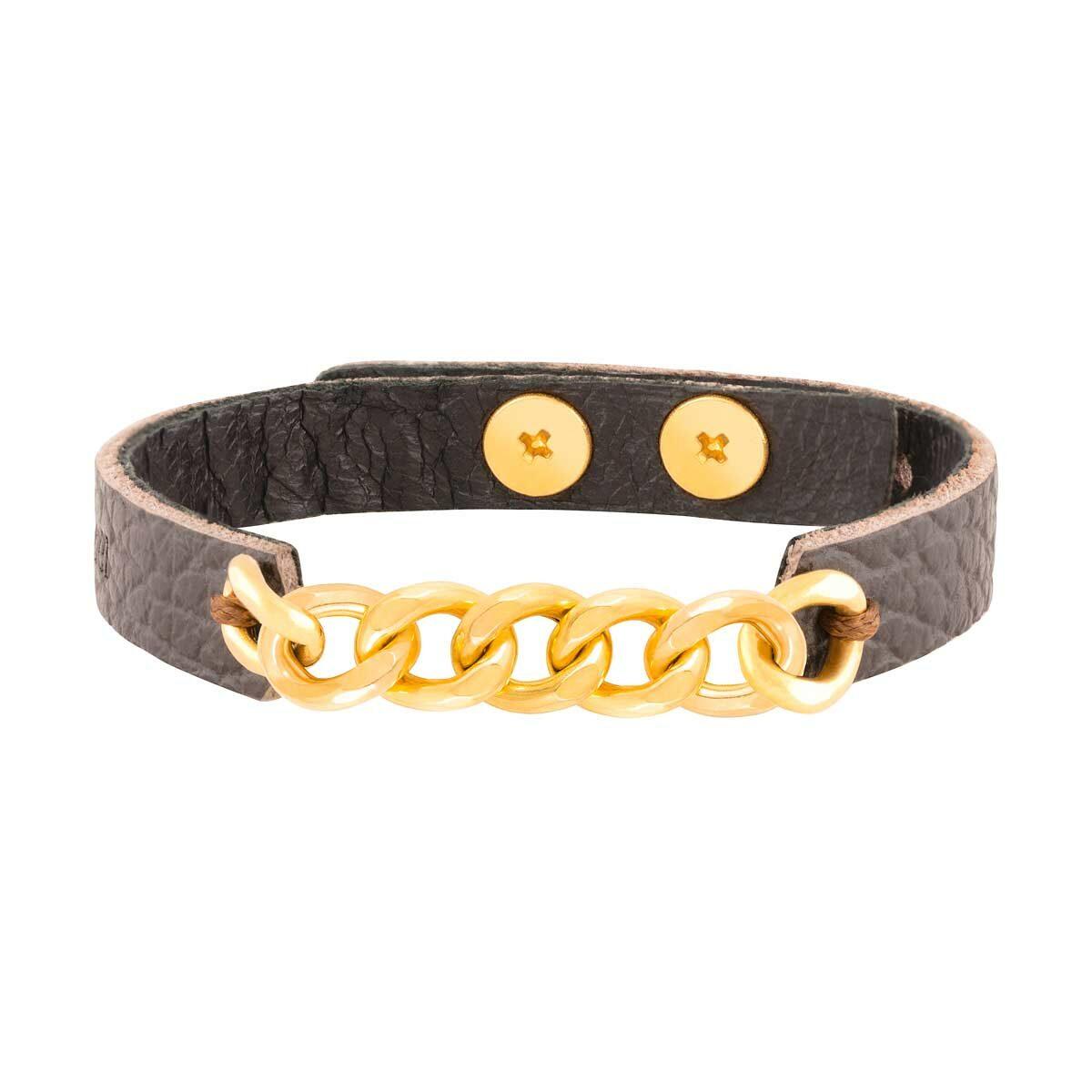 دستبند طلا چرمی هفت حلقه کارتیه