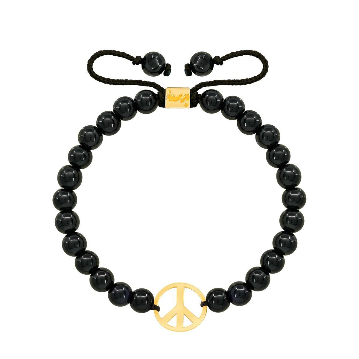 دستبند طلا سنگی PEACE