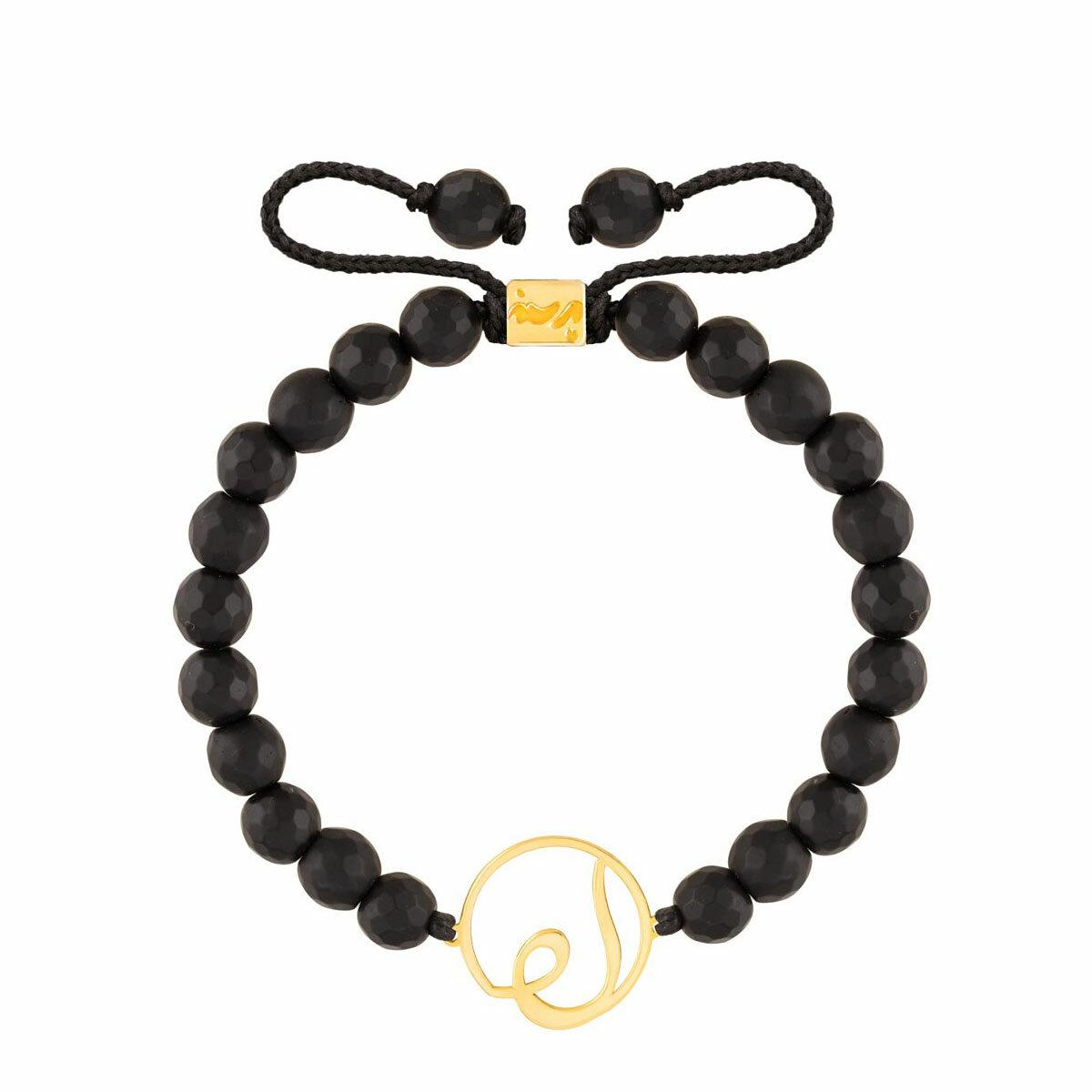 دستبند طلا سنگی لام