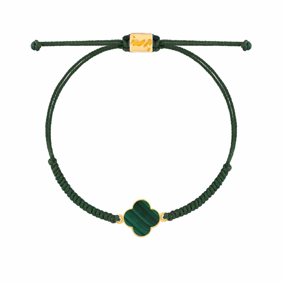دستبند طلا بافت VanCleef سبز