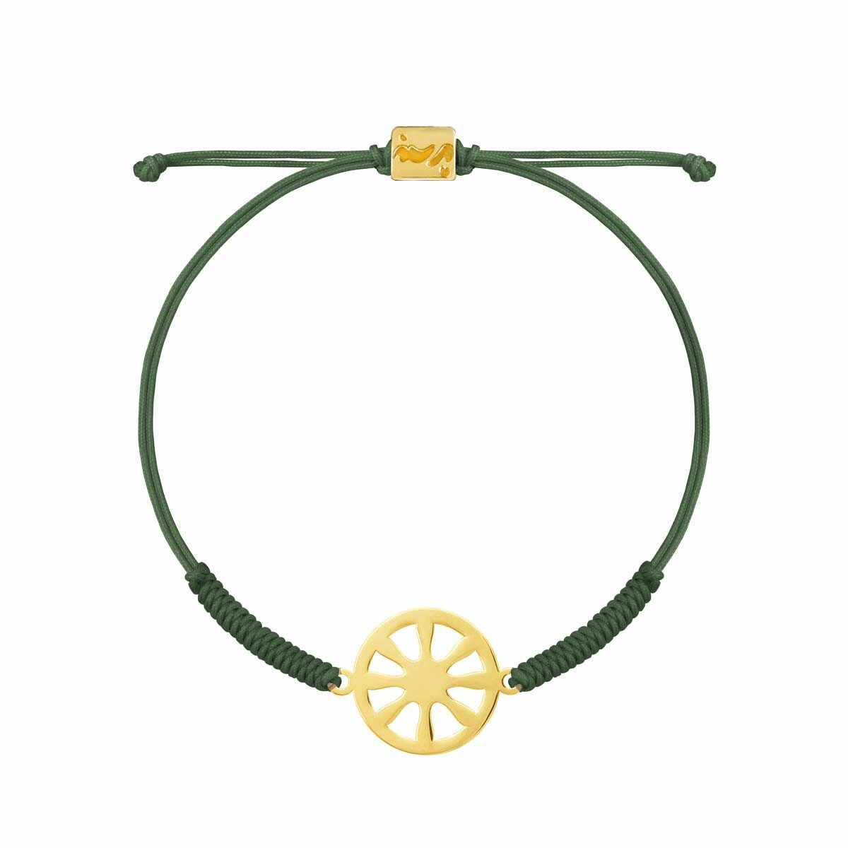 دستبند طلا بافت سبز شمس