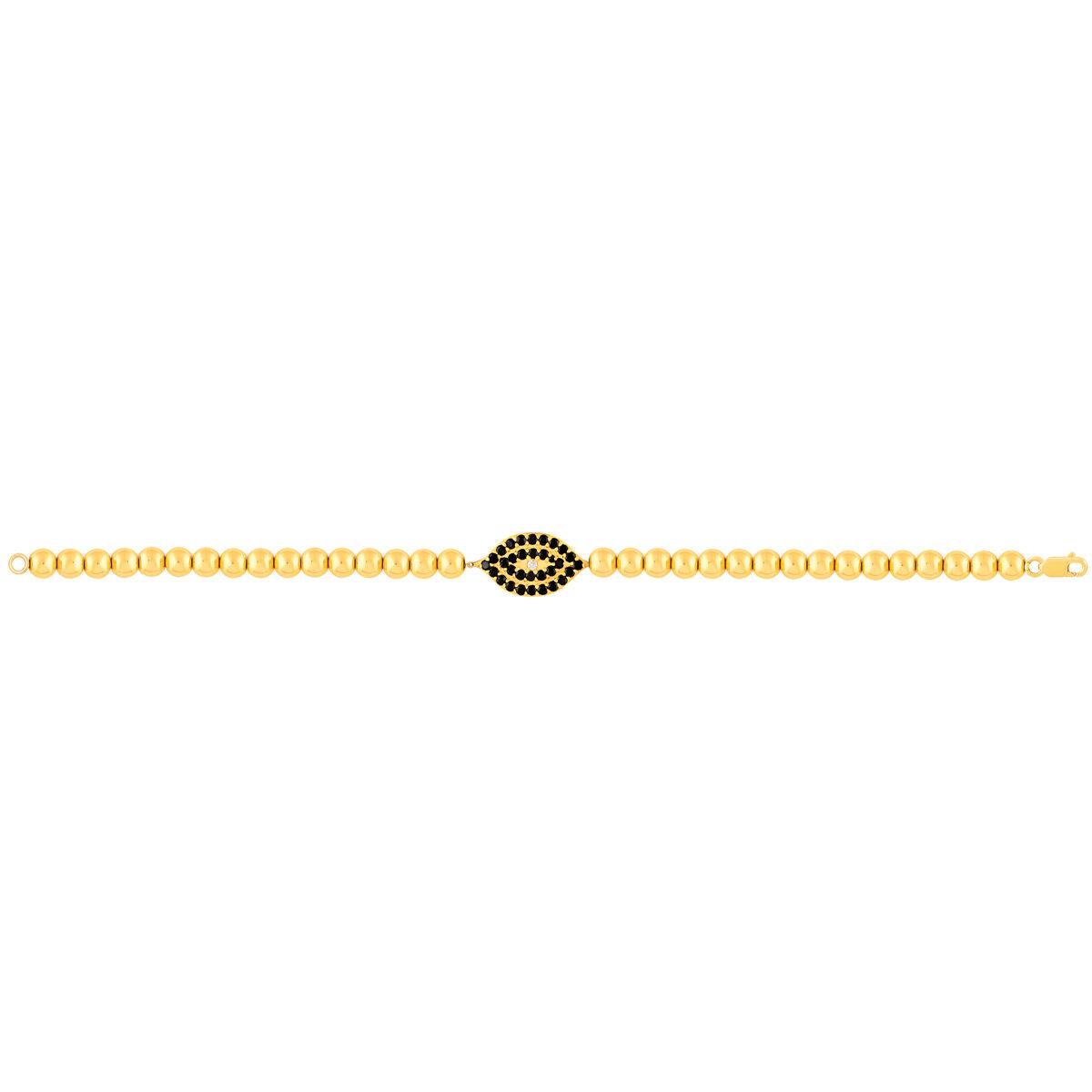 دستبند طلا تمام گوی چشم