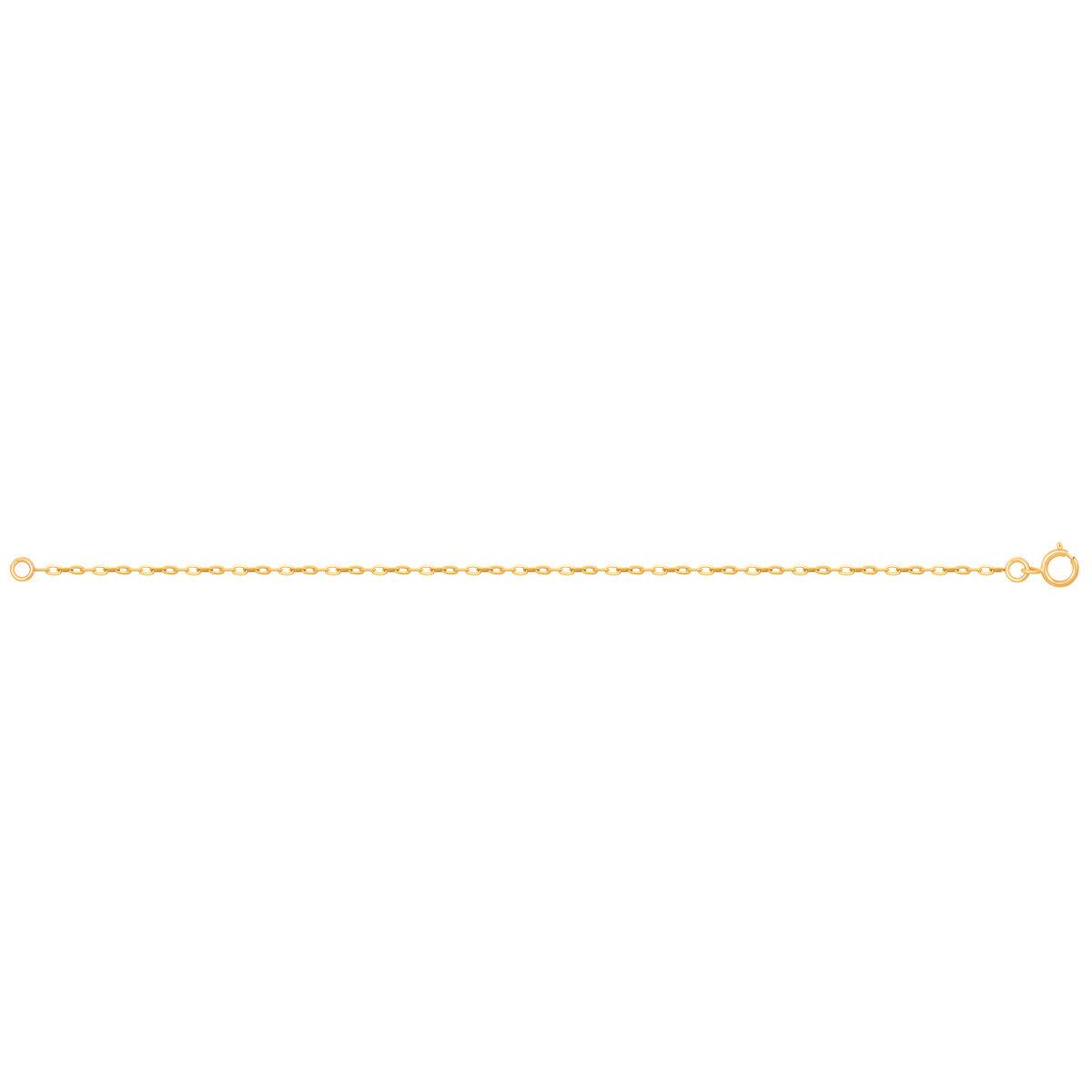 زنجیر دستبند طلا فلامینگو سایز 4