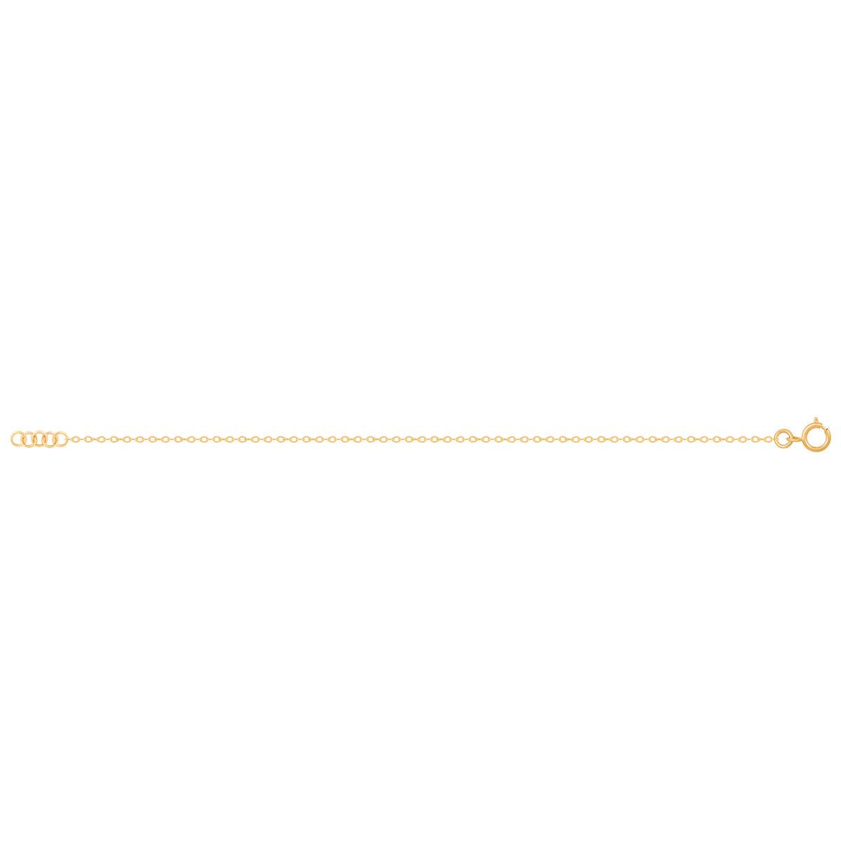 زنجیر دستبند طلا فلامینگو سایز 2