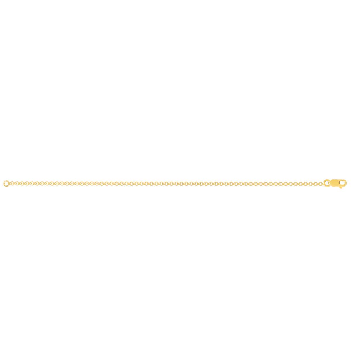 زنجیر دستبند طلا رولو