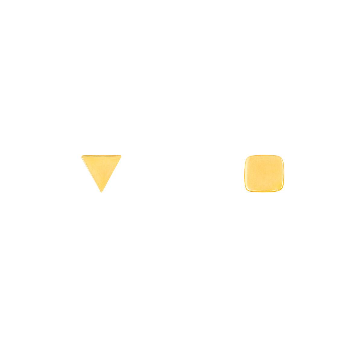 گوشواره طلا مربع و مثلث