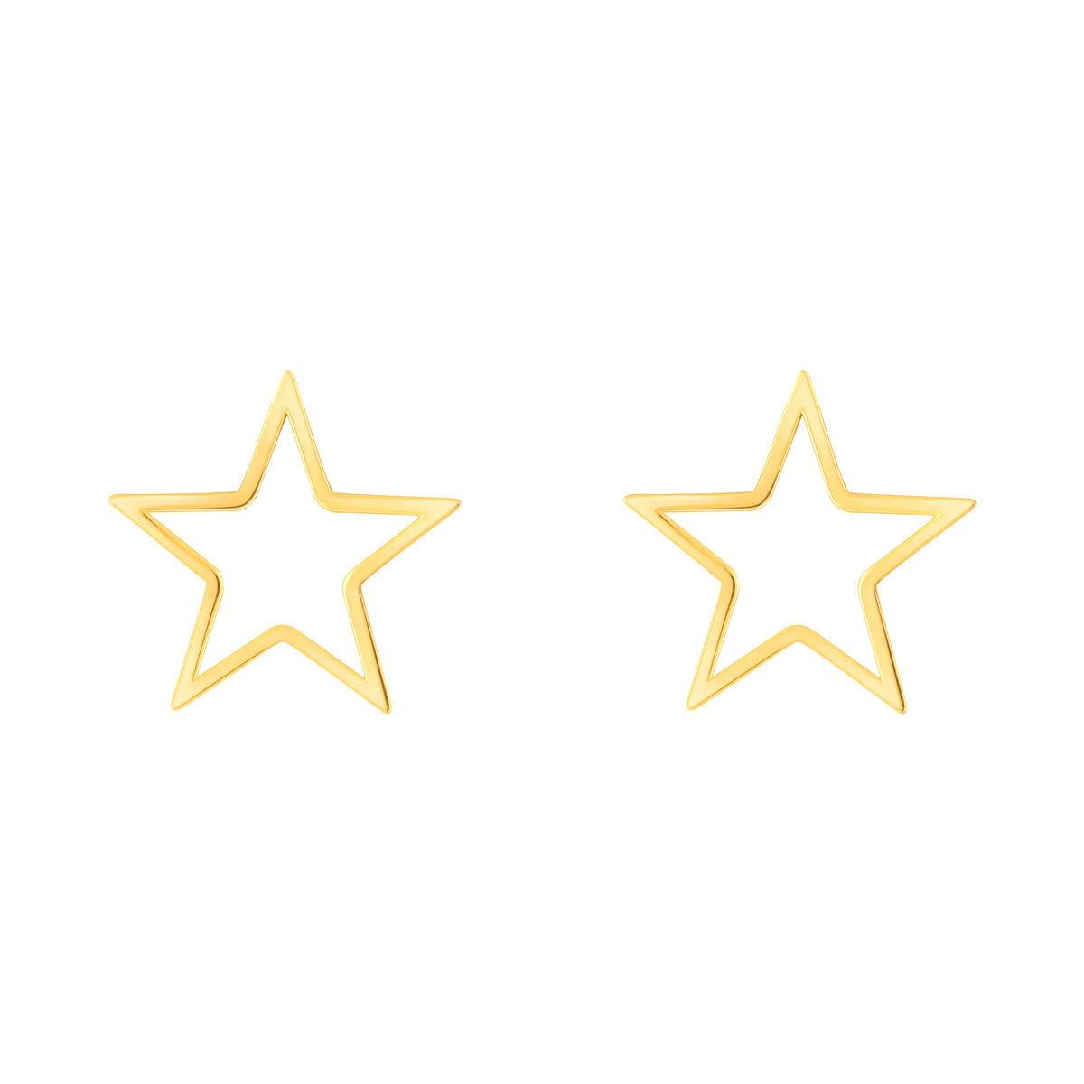 گوشواره طلا ستاره توخالی بزرگ