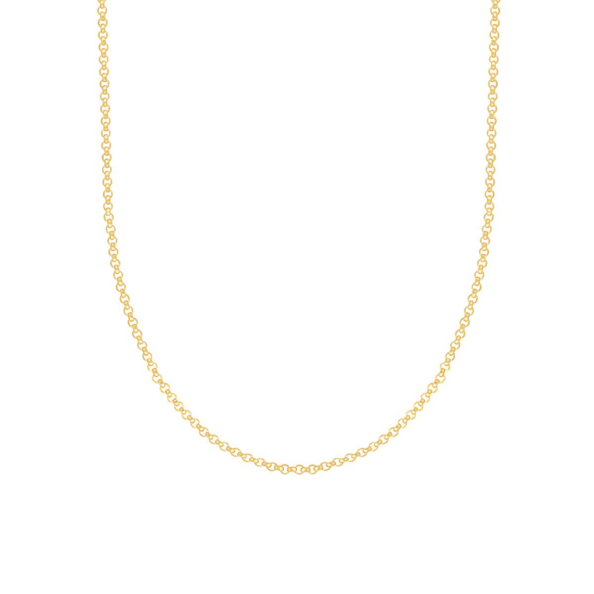 گردنبند زنجیری طلا رولو متوسط
