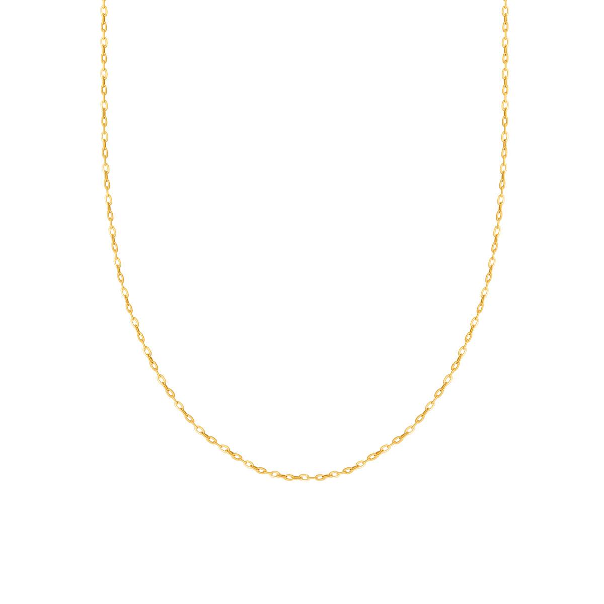 زنجیر گردنبند طلا فلامینگو سایز 3