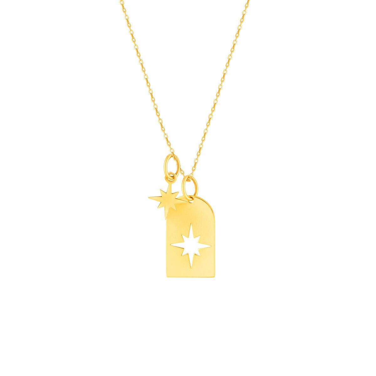گردنبند طلا پلاک ستاره