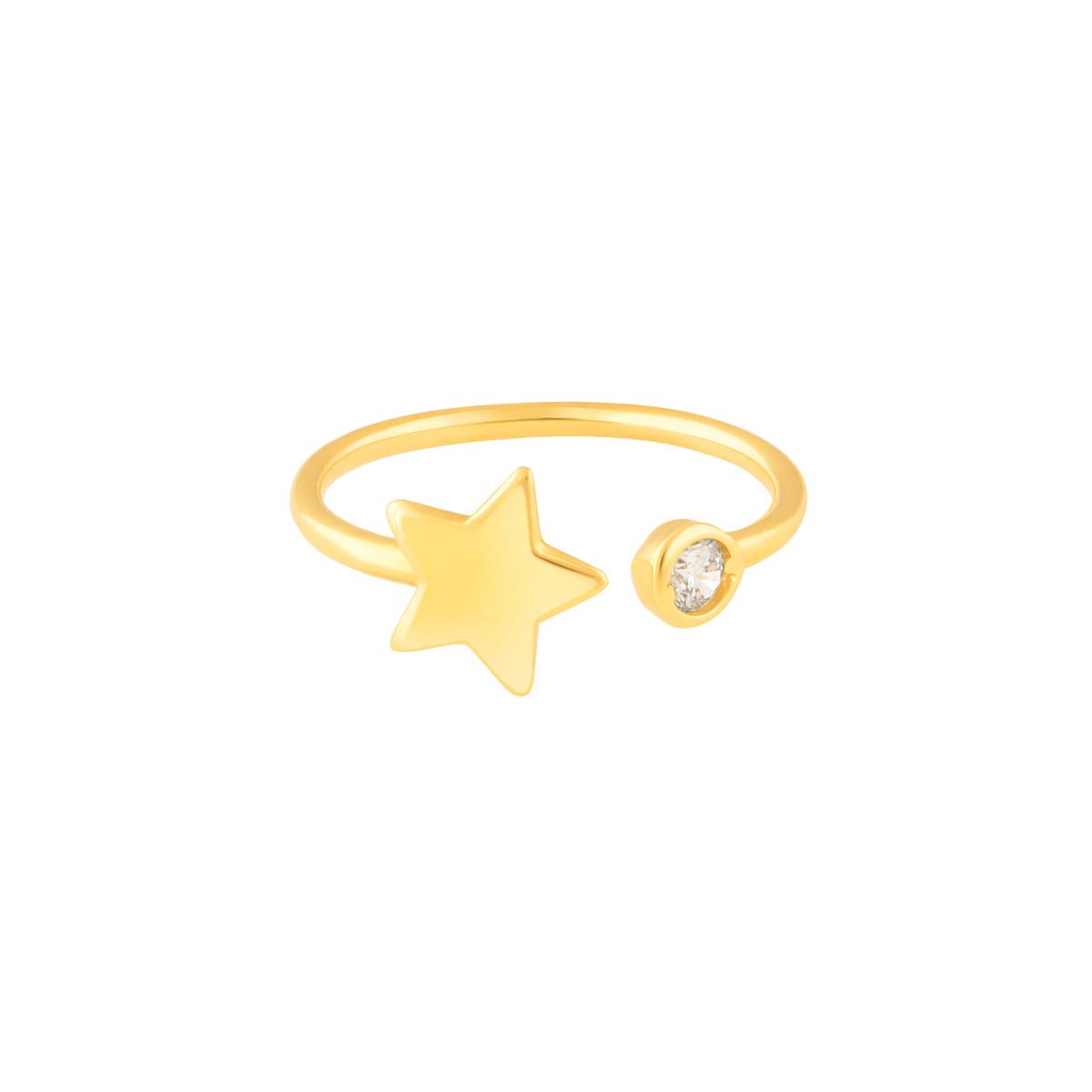 انگشتر طلا ستاره و لونا