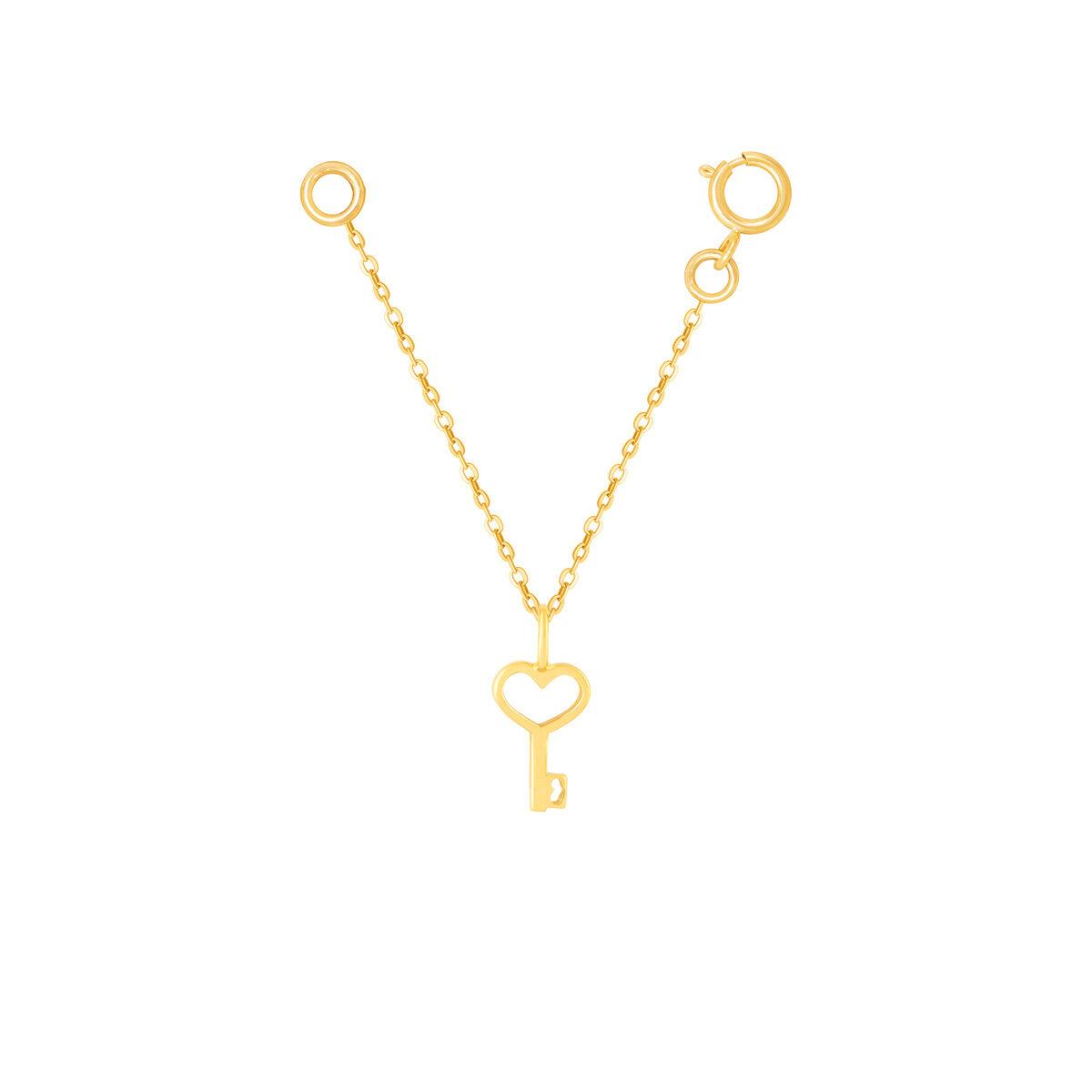 آویز ساعت طلا قلب و کلید