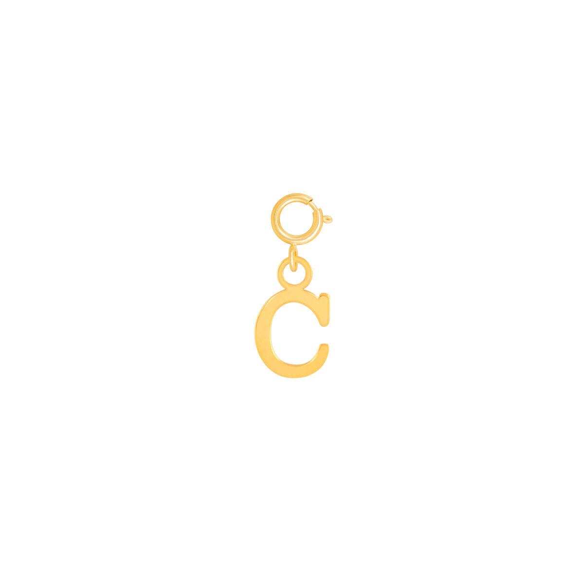 آویز طلا حرف C