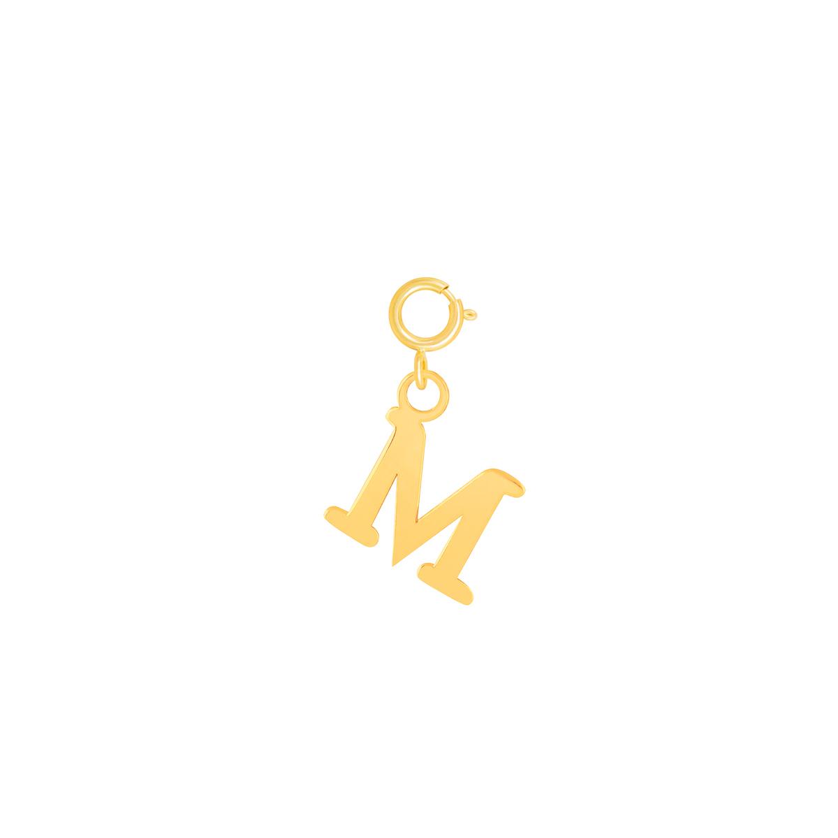 آویز طلا حرف M