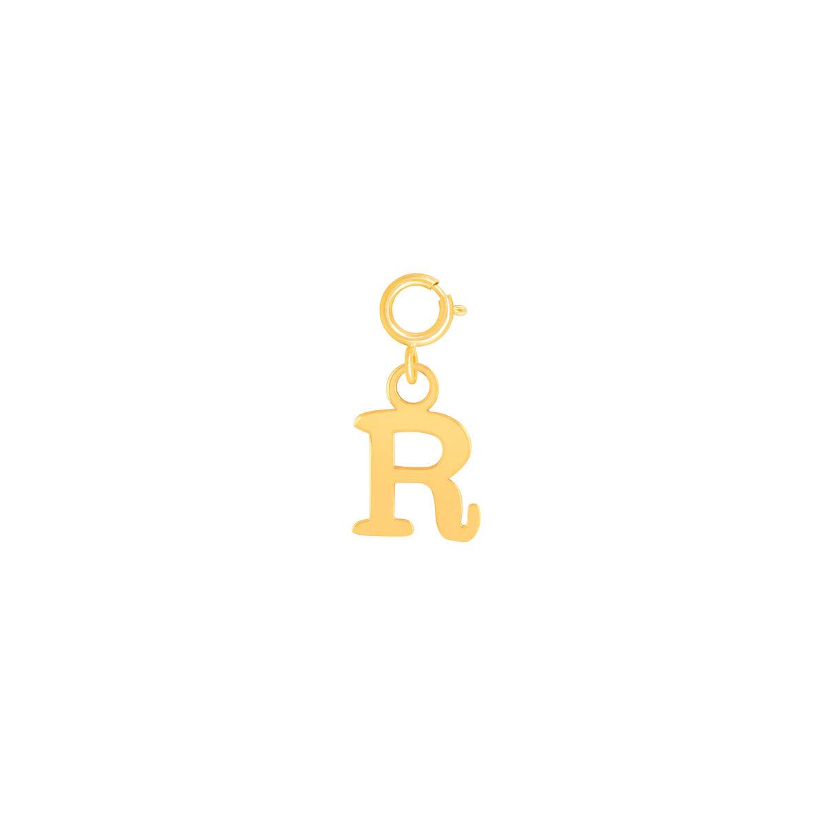 آویز طلا حرف R