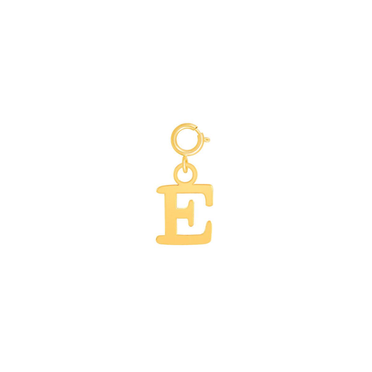 آویز طلا حرف E