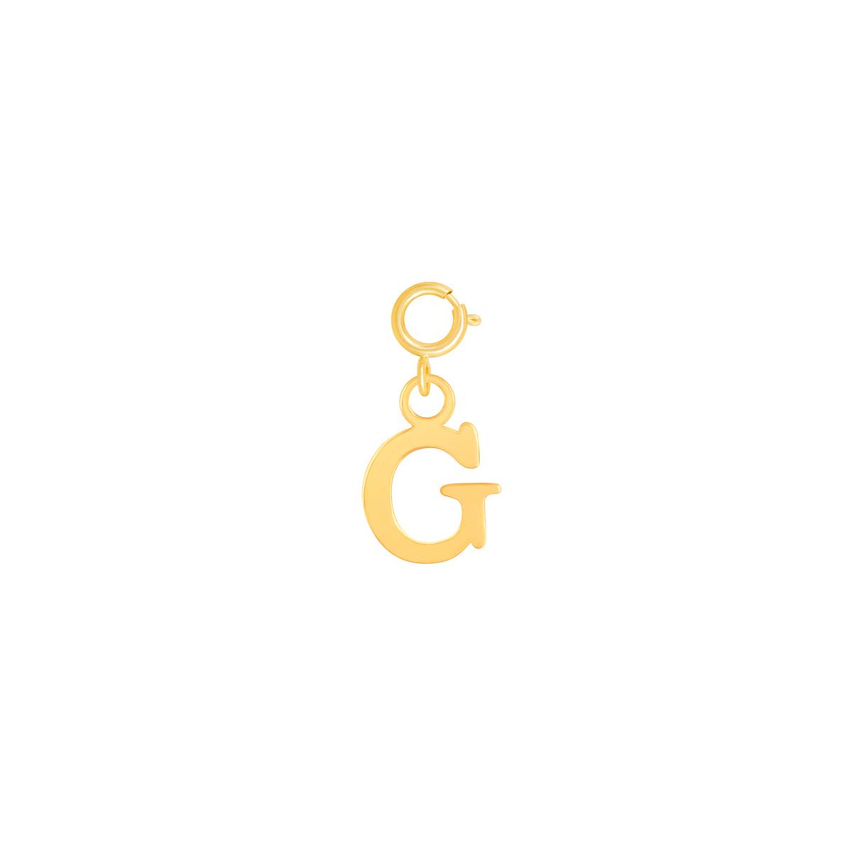 آویز طلا حرف G