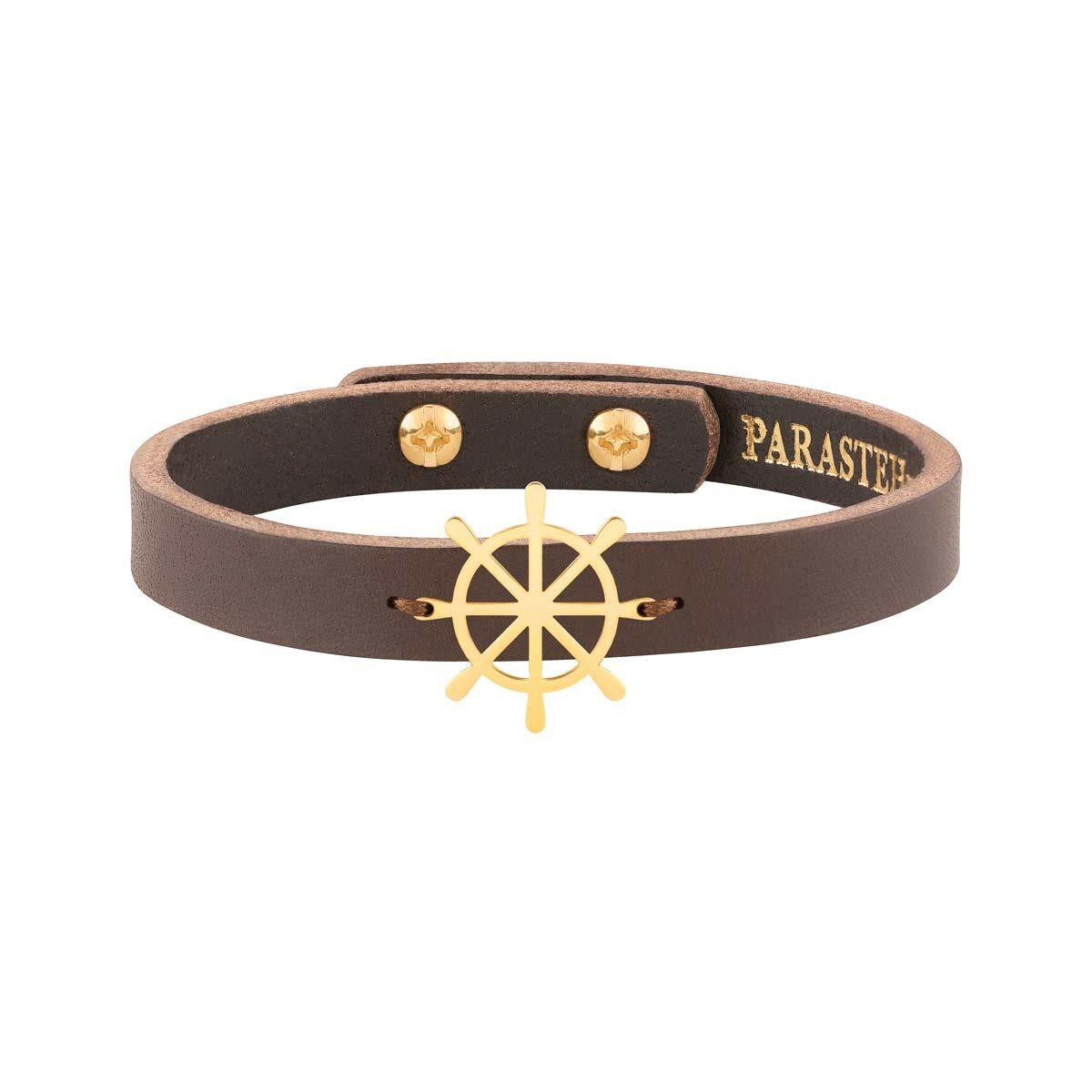 دستبند طلا چرمی سکان