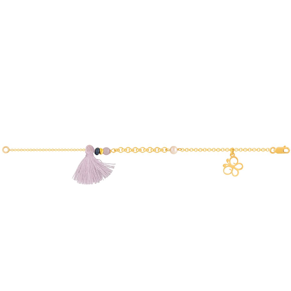 پابند طلا پروانه و منگوله