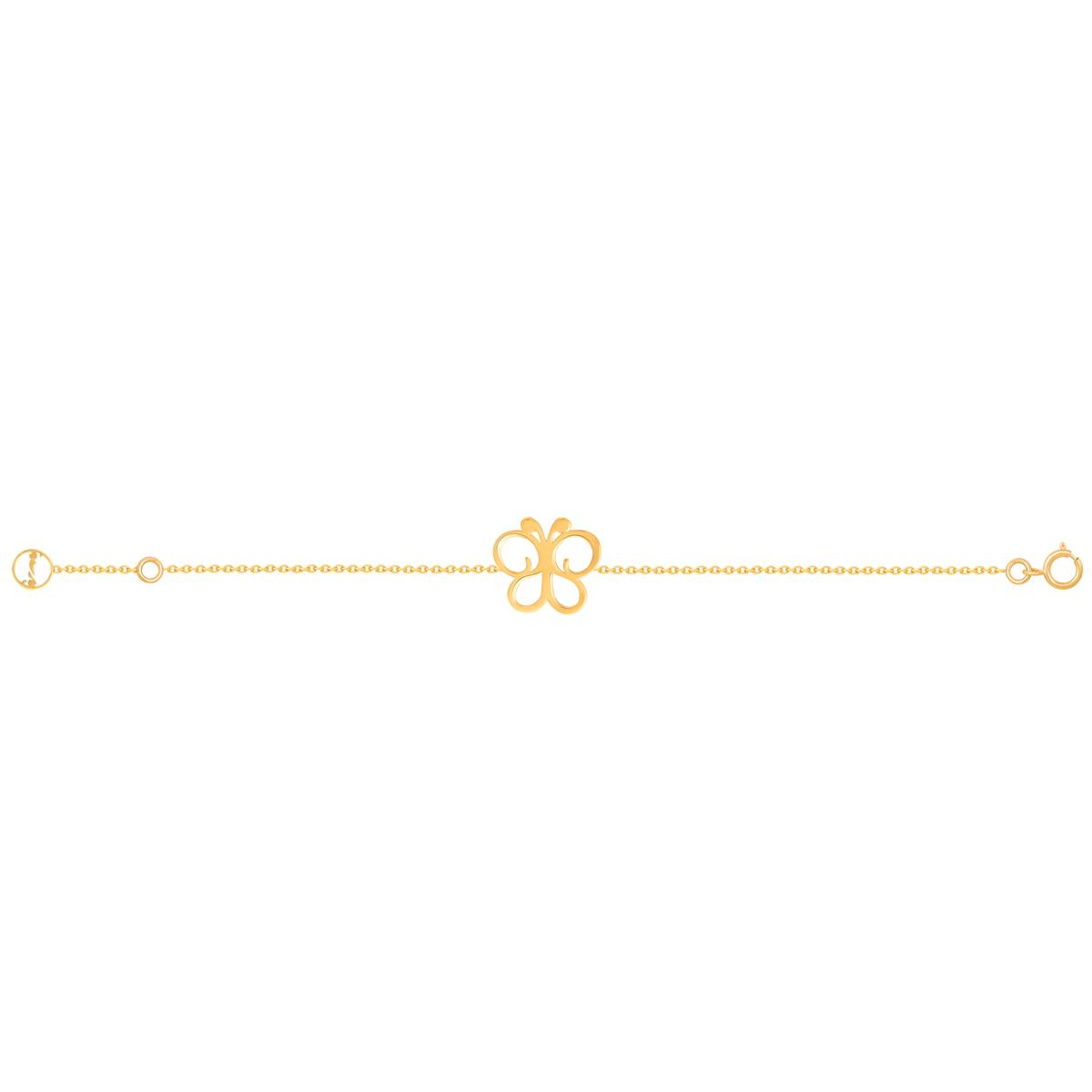پابند طلا پروانه توخالی