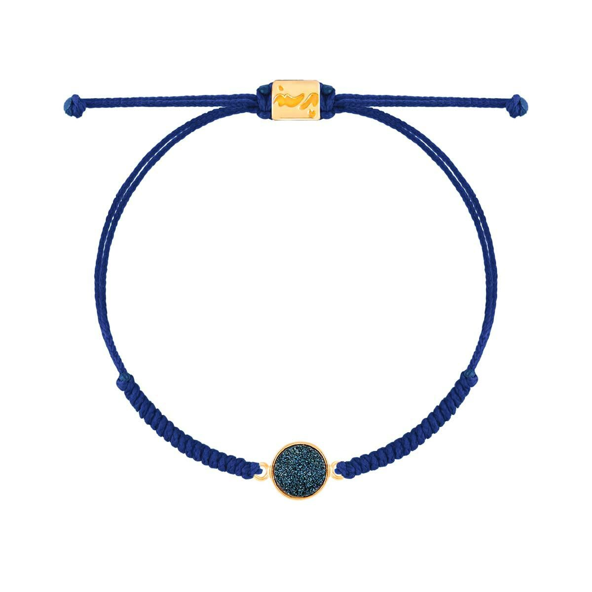 دستبند طلا بافت کوارتز آبی