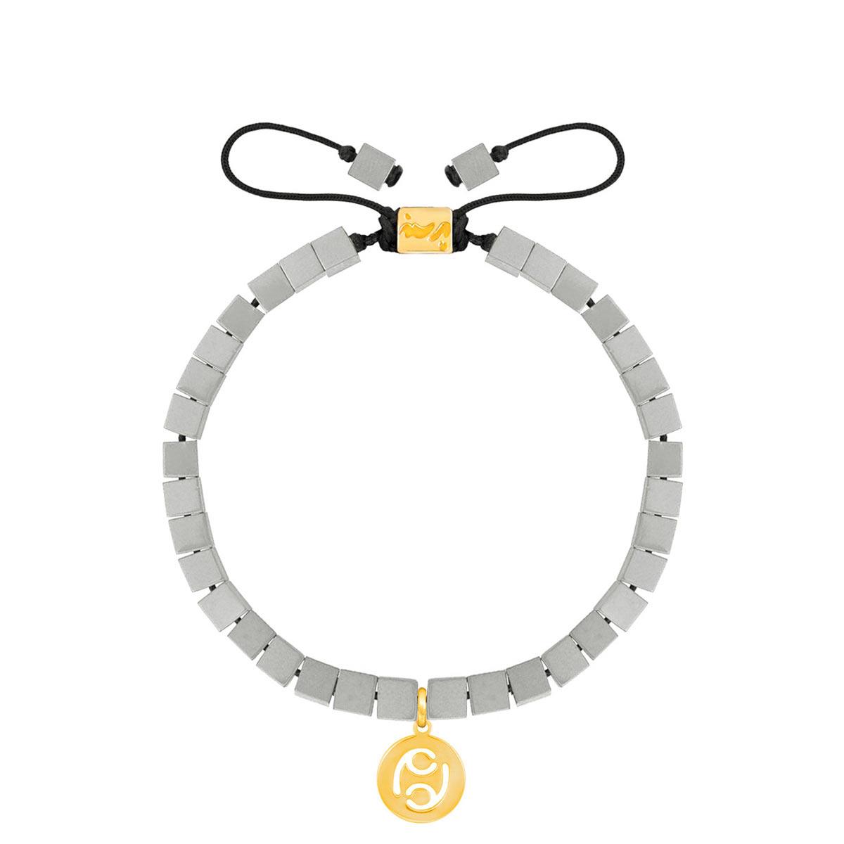 دستبند طلا سنگی نماد ماه تیر