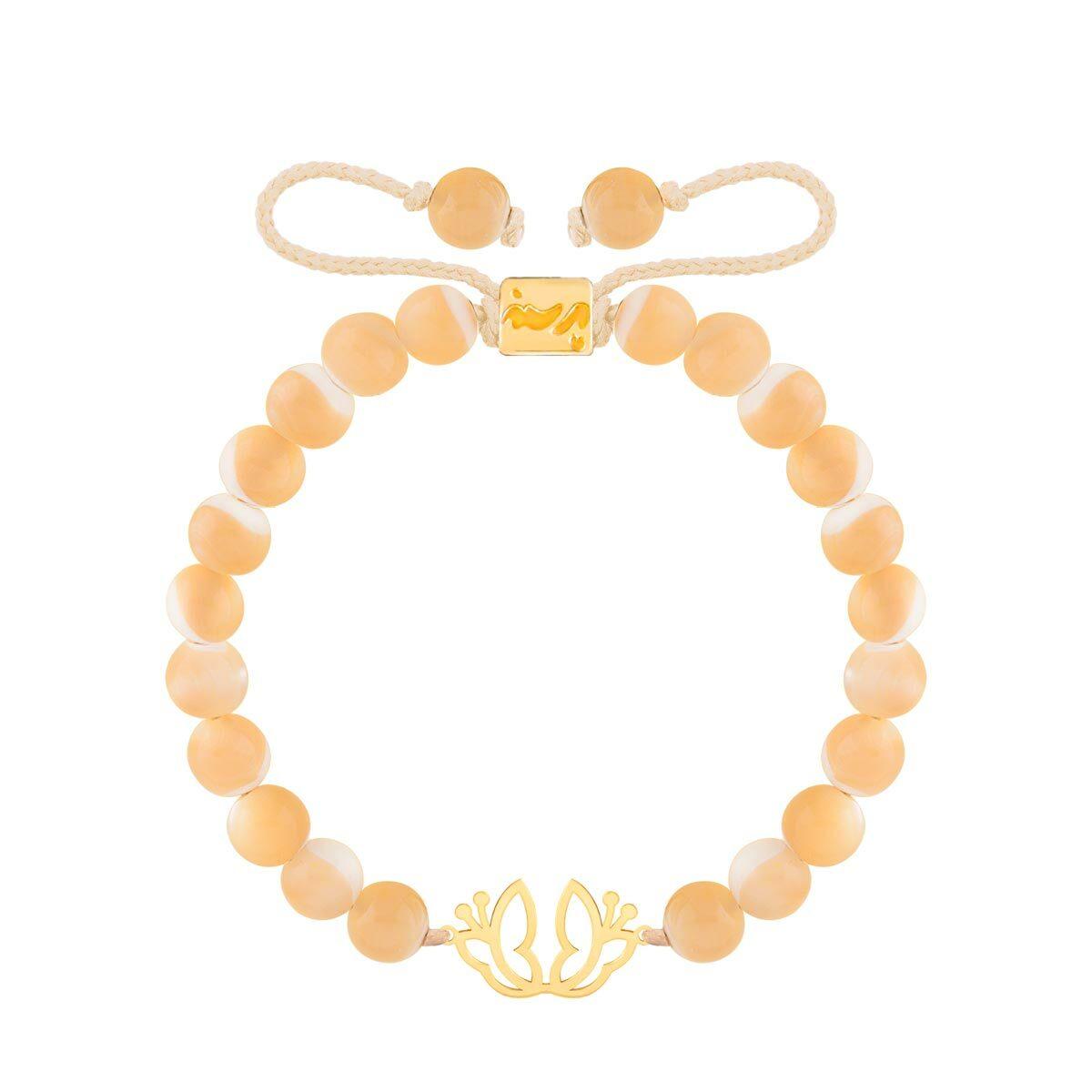 دستبند طلا سنگی دو پروانه