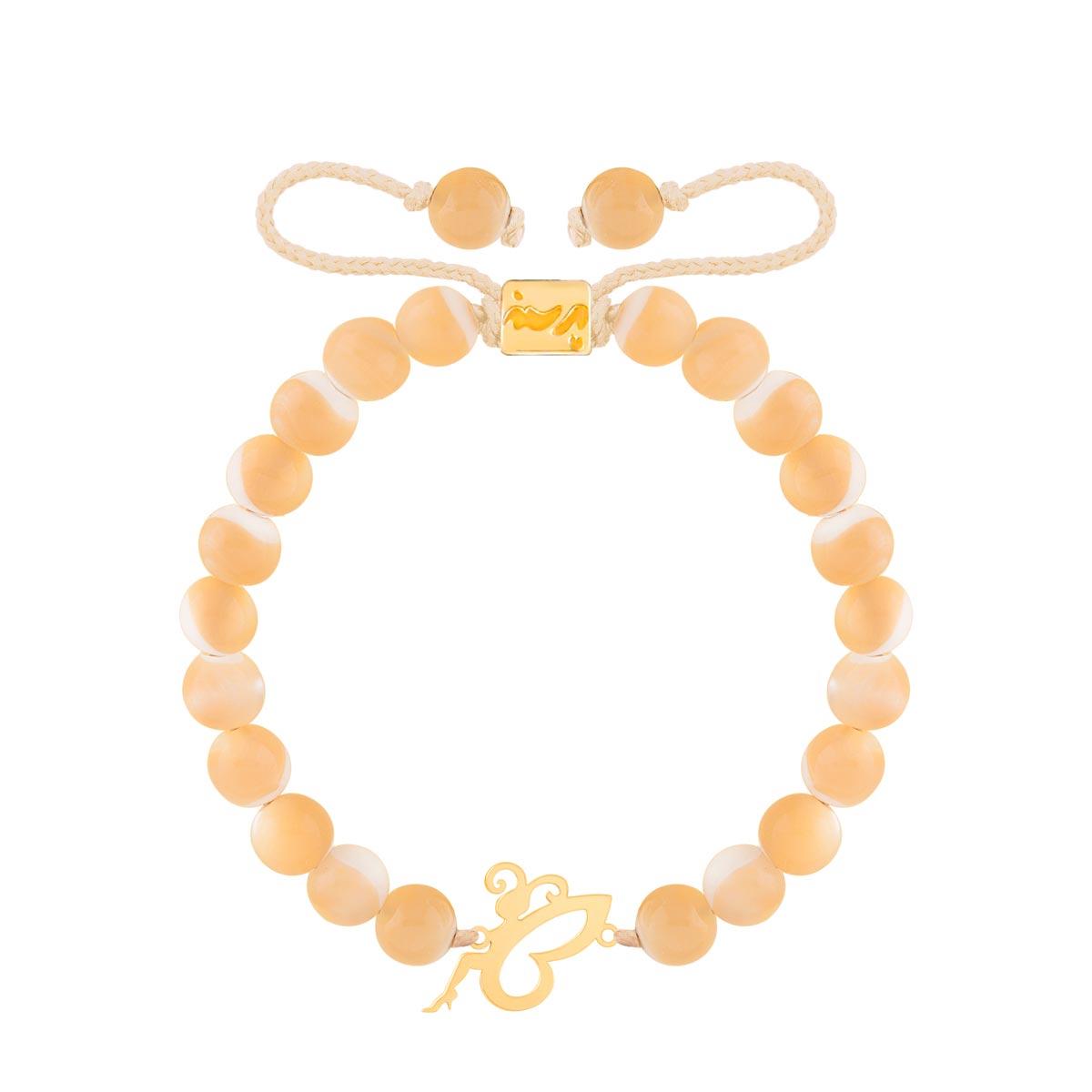 دستبند طلا سنگی ( تینکربل )