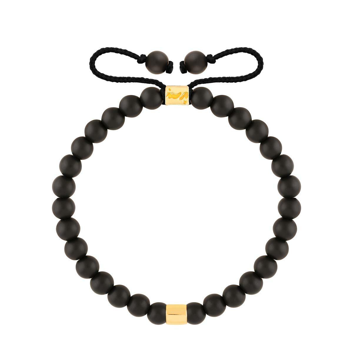 دستبند طلا سنگی استوانه