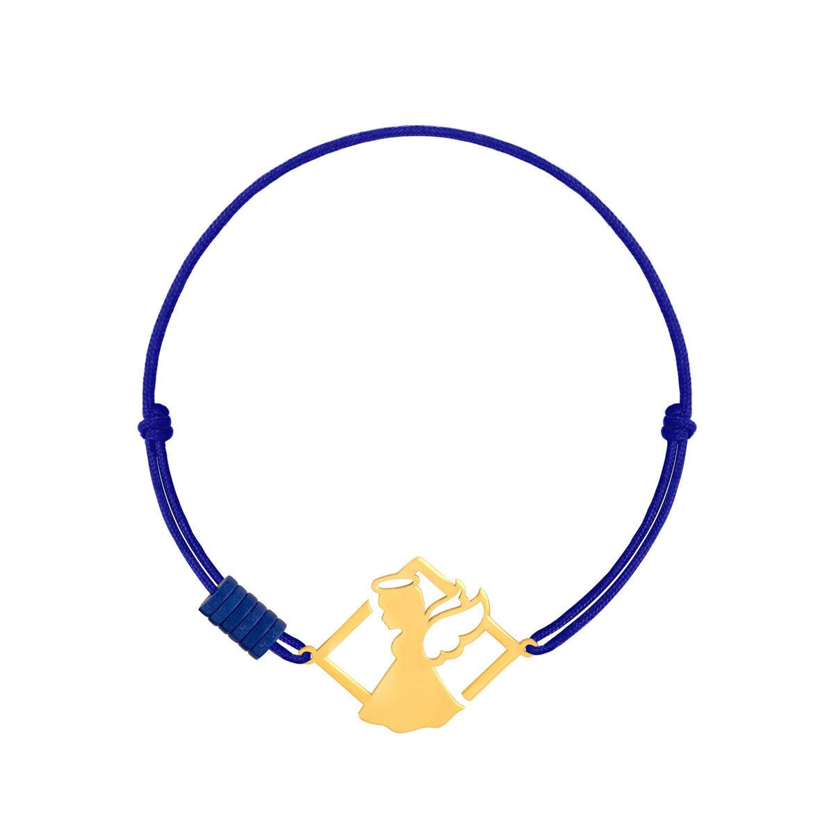 دستبند طلا بافت فرشته و لوزی
