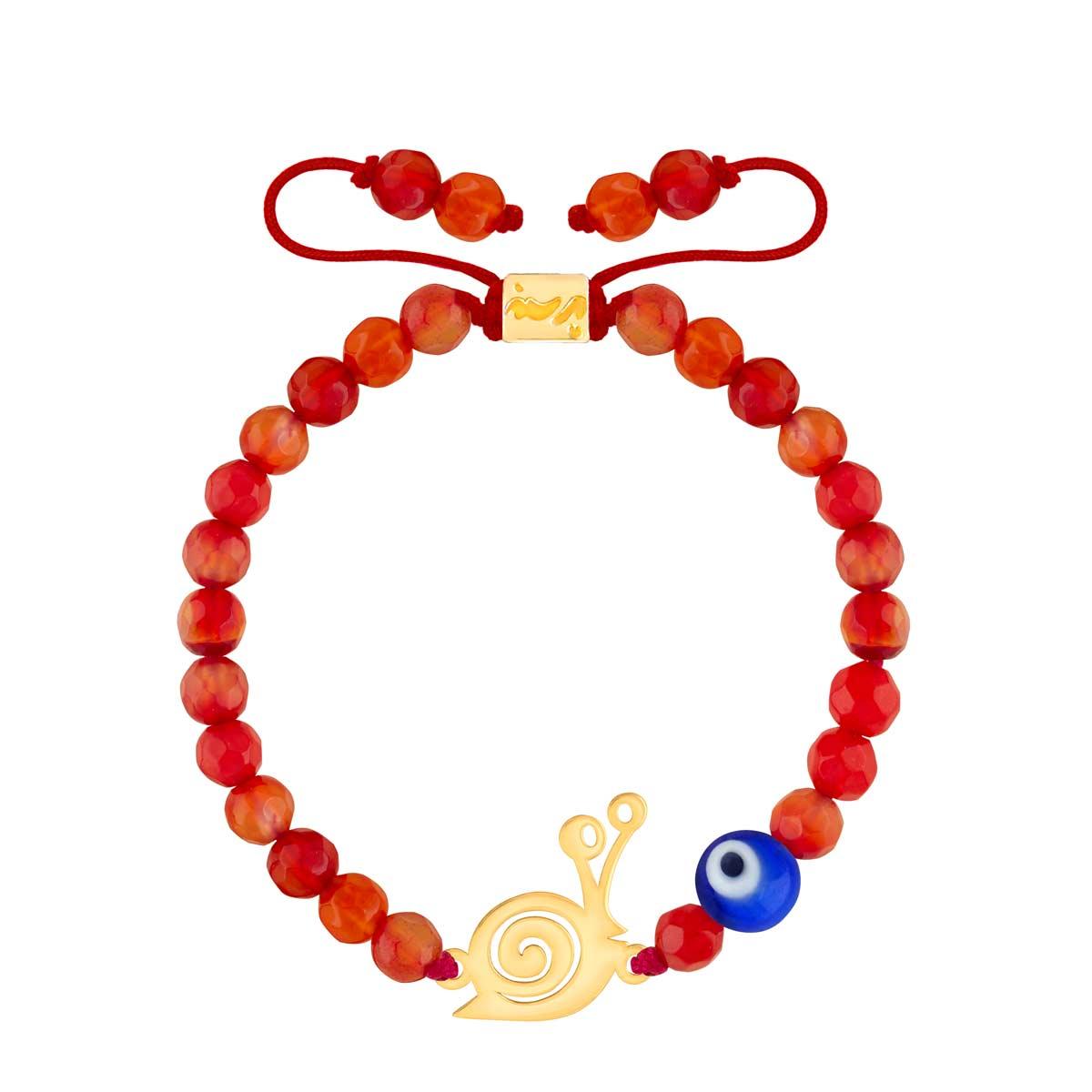 دستبند طلا بچه گانه سنگی حلزون