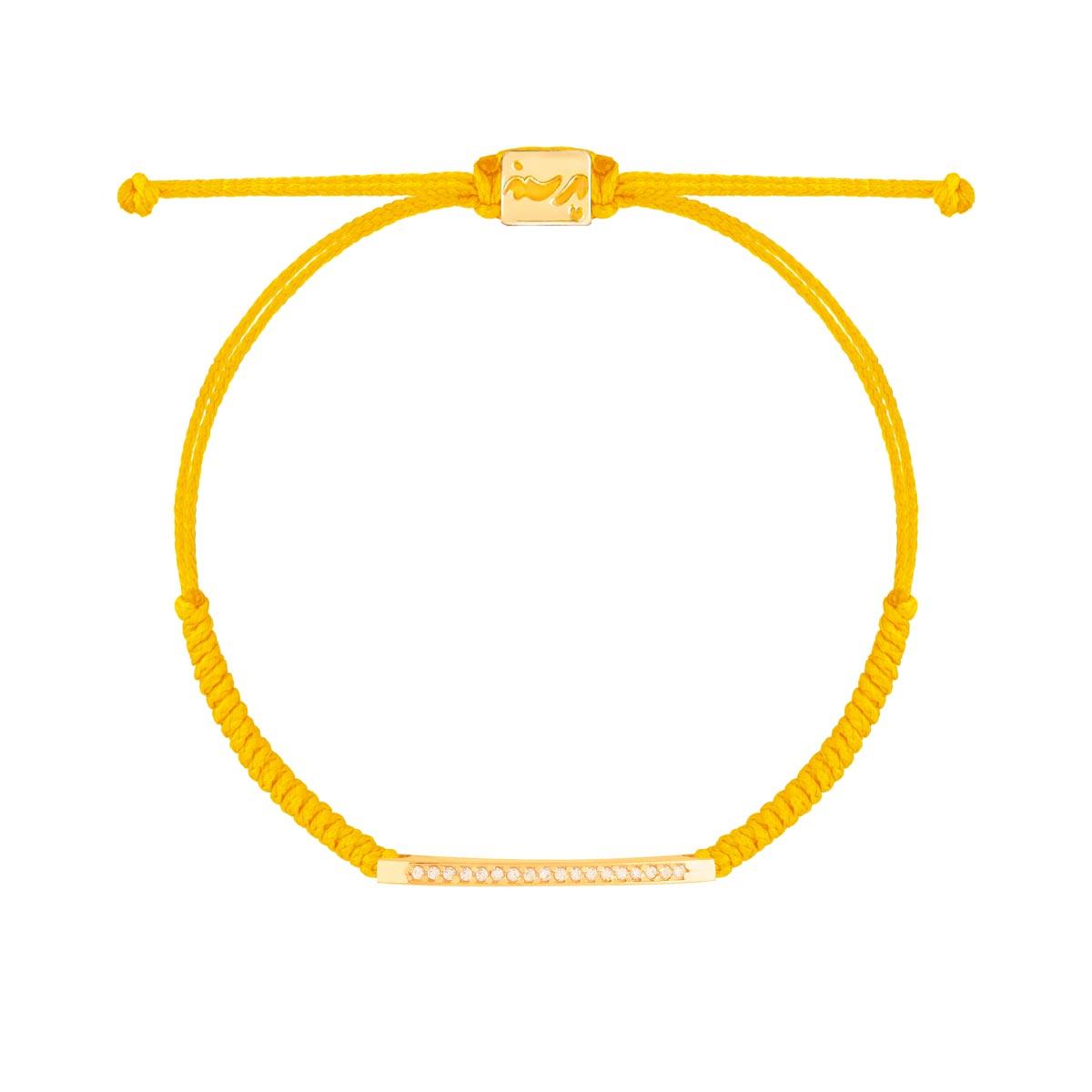 دستبند طلا بافت خط نگین دار